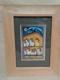 Framed chicken picture. 7x9. Meet in Angleton.
