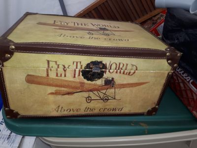 Antique fly the world,above the world storage box
