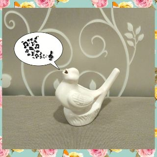 CERAMIC BIRD CALLER DECOR
