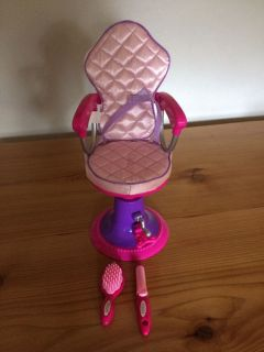 American Girl Doll Salon chair and accessories