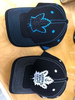 Brand new Leafs hats. One size fits all. $15 each or $25 for both