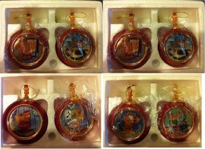 Garfield Heirloom Porcelain Christmas Ornaments - set of 8