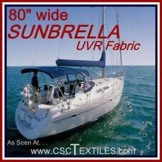 "Purchase SUNBRELLA UVR/WR 80""WIDE FABRIC 4yds - for Covers BOAT Bimini CANOPY Top SHADE motorcycle in Indianapolis, Indiana, US, for US $199.77"