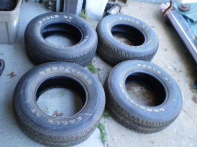 GOODYEAR EAGLE ST TIRES CHEVELLE GTO CUTLASS SKYLARK EL CAMINO NOVA NICE TREAD SIZE 235/70/15 AND 27