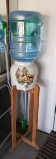 Ceramic and Wood Water Dispenser