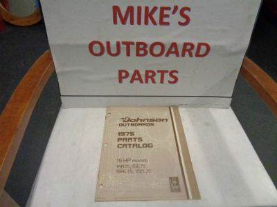 Purchase 1975 JOHNSON OUTBOARD 15HP PARTS CATALOG @@@CHECK THIS OUT@@@ motorcycle in Atlanta, Georgia, United States, for US $14.99