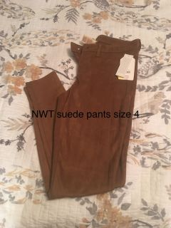 NWT suede pants size 4