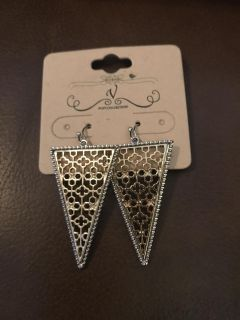 Gold and silver filigree earrings