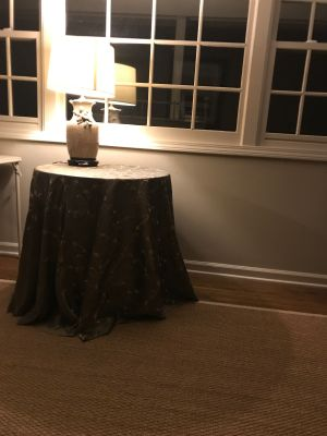 Small skirted table