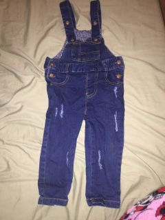 Overalls and Rainbow Shirt Chucky Costume 3T