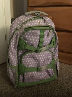 Small size Pottery Barn backpack with wheels