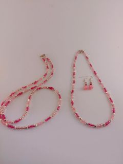 Beaded Necklaces and Earrings Set