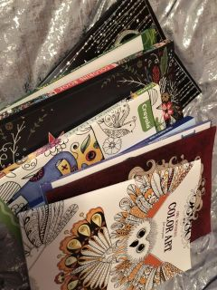 Adult coloring book LOT
