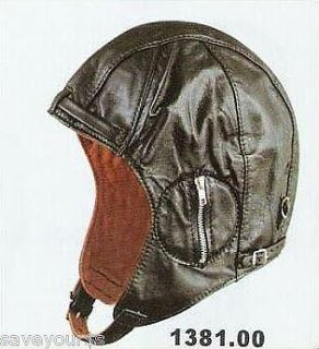 Purchase Leather Aviator Motorcycle Cap Hat Vintage WWII Hat LARGE motorcycle in Bemidji, Minnesota, US, for US $17.05