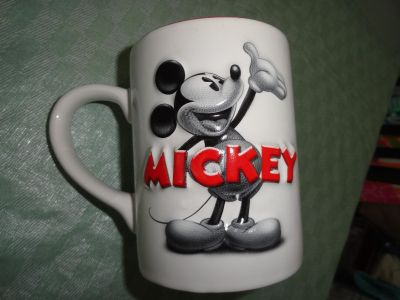 LARGE & HEAVY 3-D MICKEY MUG (SAME ON BOTH SIDES