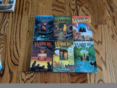 Warrior Cats 1-6 paperback. Great pre-read condition