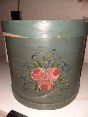Antique Large wooden Hat Box