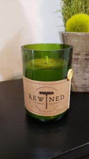 Rewined 11oz Natural Soy Wax Candle. Pinot Grigio. HandMade in Charleston SC. Retails for $28. New. Great Gift.