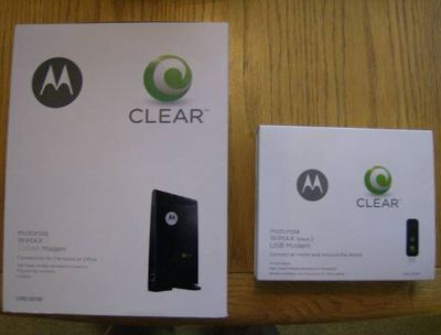 CLEAR WIMAX MOBLE INTERNET MODEMS