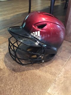 Helmet with face mask