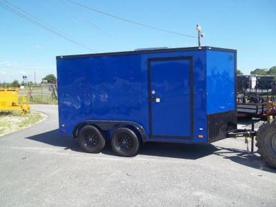 2018 covered wagon enclosed 7 x 12 blackout blue