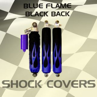 Purchase Suzuki lt250rquadracer 87-92 Blue Flame Black Shock Cover #kwi12332 eby4342 motorcycle in Milwaukee, Wisconsin, United States, for US $29.99