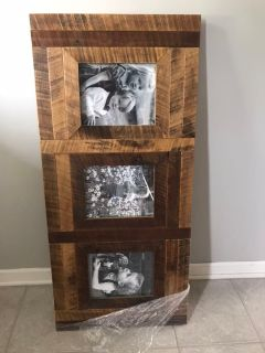 Solid wood hand made picture frame