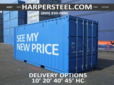 Steel Shipping Containers New Jersey - Largest Selection W/Delivery Options!