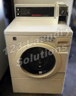 Coin Operated Speed Queen Horizon Front Load Washer 120v 60Hz 9.8Amps SWR971WN Used