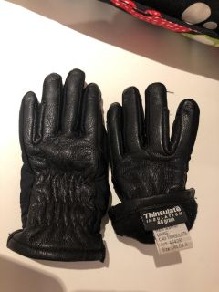 Children s Equestrian Horse Riding leather Winter Gloves