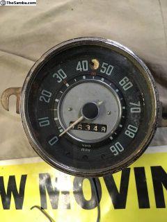 Lowlight Ghia Speedometer dated 6/57