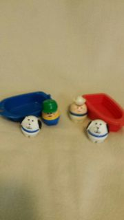 Fisher price people with 2 boats