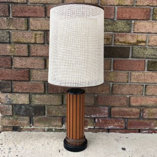 Vintage Hans Wegner Gruvwood Table Lamp with Shade