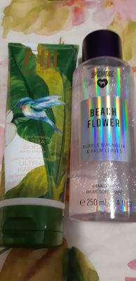 Body cream and shimmer mist