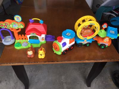 Vtech Train and Dog play house