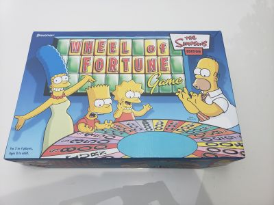 Simpsons wheel of fortune sealed pieces collector