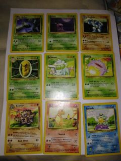 Used first edition pokemon cards