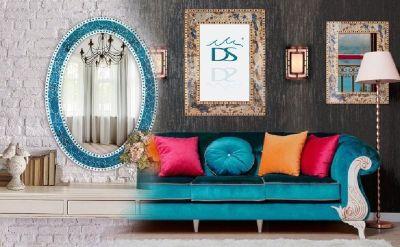 Shop Mosaic Wall Mirror, Mosaic Wall Clock, Crackled Glass Mosaic Wall Decor - Decorshore
