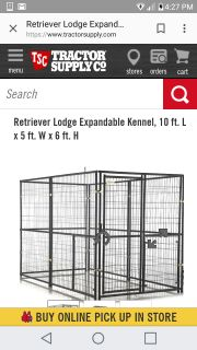 Dog kennel 10foot long 5foot wide by 6foot high bought at tractor suppy sell for $350 this will never break