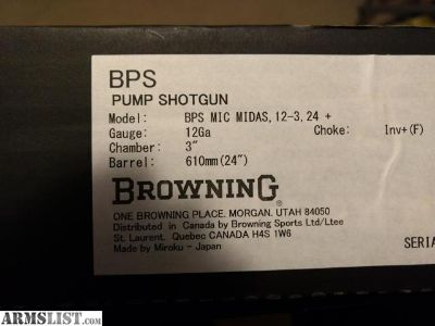 For Sale: Browning BPS Micro Midas