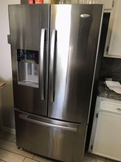 Whirlpool French door stainless steel refrigerator