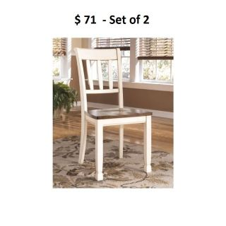 Local Sales-Ashley Furniture Signature Design Whitesburg Dining Room Side Chair, Two-Tone, Set of 2