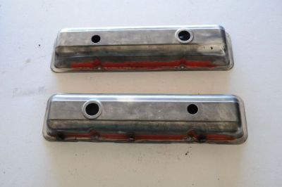 Sell 1969 1970 STOCK Chevrolet VALVE COVERS 350 400 283 302 305 SBC SMALL block motorcycle in Portland, Oregon, United States