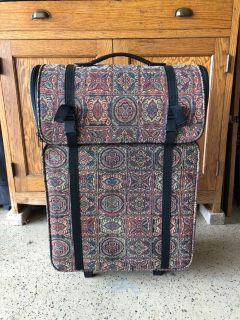 Tapestry 2 piece rolling hobby tote