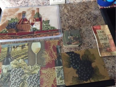 wine themed kitchen items