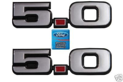 "Sell 1979-1993 FORD MUSTANG FENDER EMBLEMS ""5.0"" motorcycle in Lawrenceville, Georgia, US, for US $15.80"