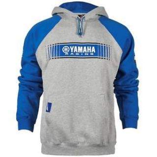 Purchase YAMAHA MED GREY/BLUE MENS TRACKS SPEED BLOCK HOODED SWEATSHIRT CRP-16FTT-BL-MD motorcycle in Maumee, Ohio, United States, for US $44.99