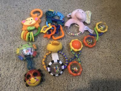 Lot of 7 Rattles!