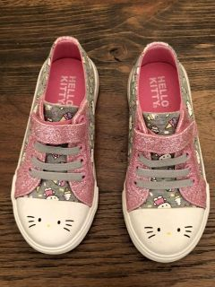 Toddler Girls Hello Kitty shoes worn once in like new condition