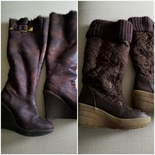 2 knee high boots size 8. Michael Kors and Juicy Couture